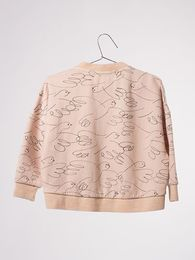 Bobo Choses - Loose zip sweatshirt doves, shell