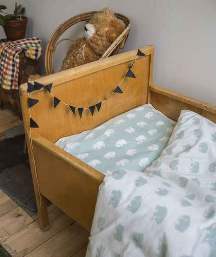 Fine little day - Björn bed set crib, sage green