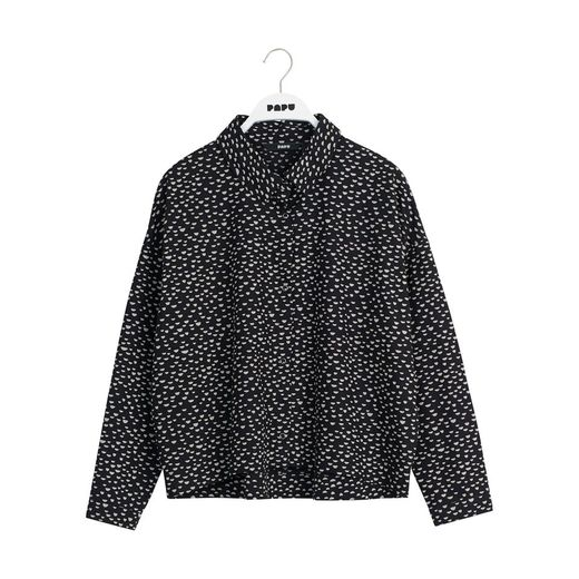 Papu - Boxy shirt mini beans, Black, cream