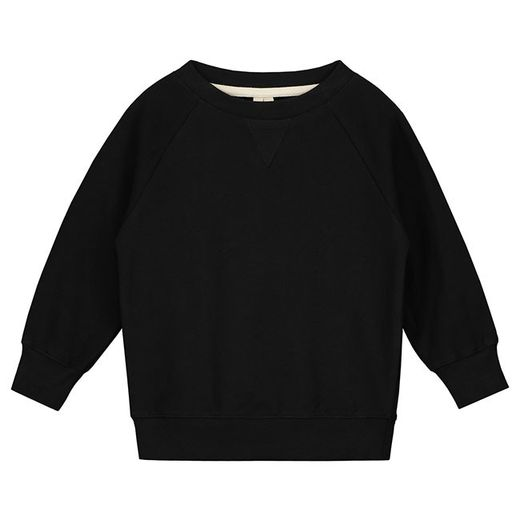 Gray label- Crew neck sweater, nearly black