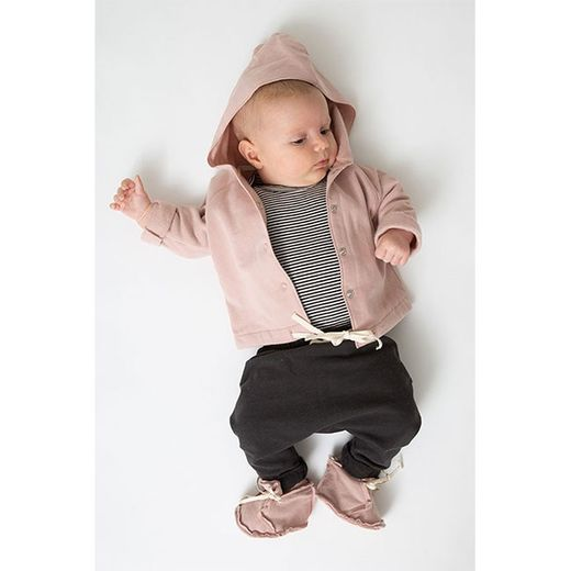 Gray label- Baby hooded cardigan, vintage pink
