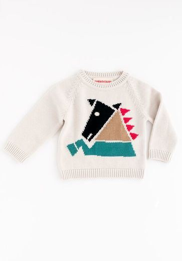Nadadelazos - Chess horse jumper, canvas beige