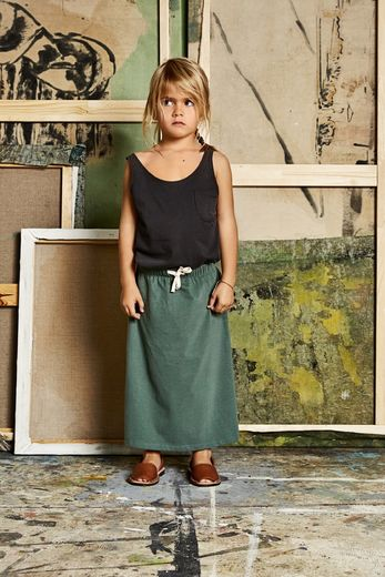 Gray label- Summer long skirt, sage