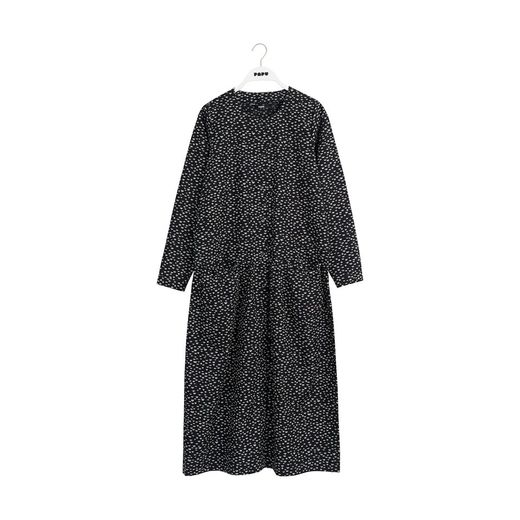 Papu - Maxi dress mini beans, Black, cream