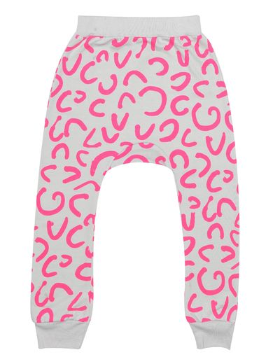 Beau LOves - Davenport pants neon modern leopard, dove grey