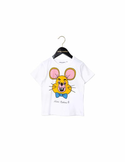 mini rodini - Mouse SP tee, white
