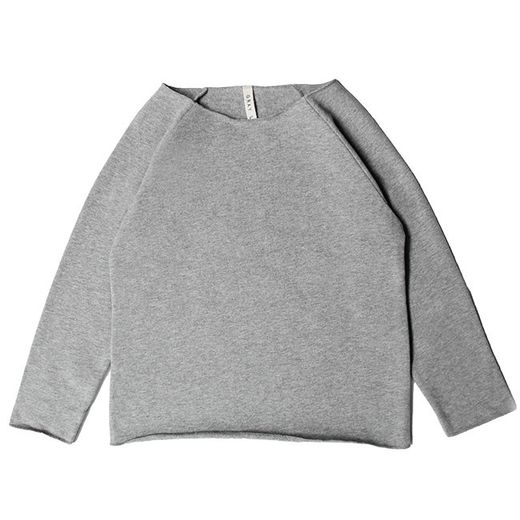 Gray label- Ribless sweater, grey melange