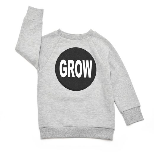 Little man happy - Superboy sweater, grey