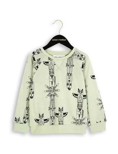 mini rodini - Totem sweatshirt, green