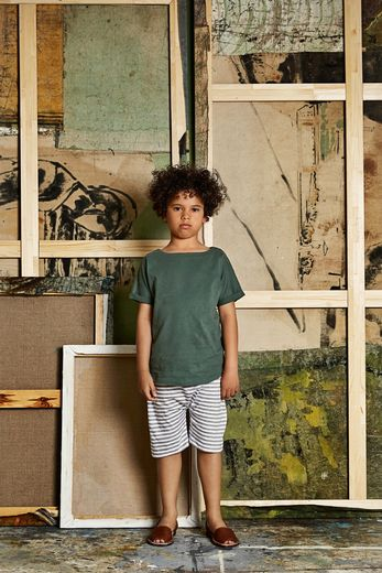 Gray label- Summer wide neck tee, sage