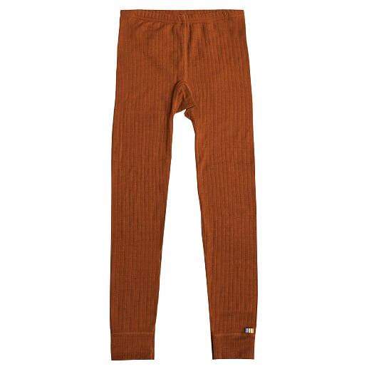 Joha - Wool leggings, rust